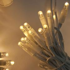Light Creations 2m Width X 3m Drop 490 Warm White LED Indoor Connectable Curtain Light White Cable