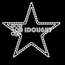 Idolight 230v LED NORMA 2D Star - White LEDs - 85cm x 80cm - White Cable - Static