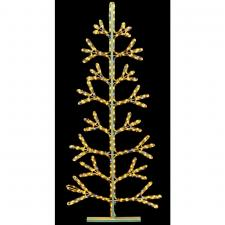 Warm White With White Flash LED Ropelight Tree Silhouette  - 1.5m