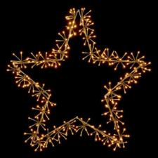 Gold With Warm White LED Star Burst Silhouette - 60cm