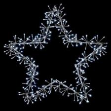 Silver With White LED Star Burst Silhouette - 60cm