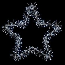 Silver With White LED Star Burst Silhouette - 120cm