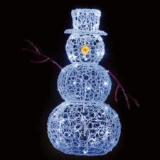 Acrylic 3D Snowman With 80 White LED's - 90cm