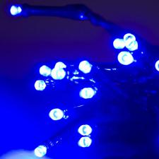 Noma 1.9m Length Of 25 Blue Indoor Static LED Battery Operated Fairy Lights.Green Cable