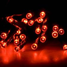 Noma 1.9m Length Of 25 Red Indoor Static LED Battery Operated Fairy Lights.Green Cable