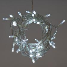 Battery Operated 3.6m Length Of 48 White Indoor & Outdoor Multi Effect  LED Fairy Lights With Timer On Clear Cable