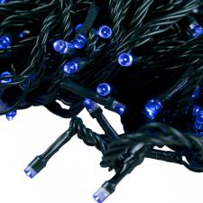 Premier 9.9m Length Of 100 Outdoor Blue Battery Operated Multiaction LED Fairy Lights With Timer Green Cable