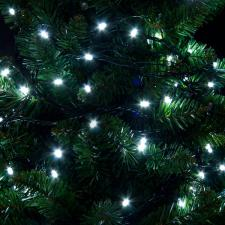 Premier 9.9m Length Of 100 Outdoor White Battery Operated Multiaction LED Fairy Lights With Timer Green Cable