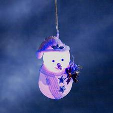 Konstsmide 10cm Blue Indoor Battery Operated LED Snowman