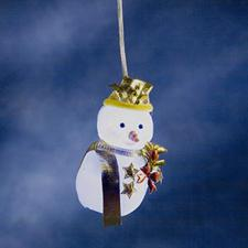 Konstsmide 10cm White Indoor Battery Operated LED Snowman