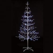Pre-lit Silver Twig Tree With White LED's - 1.5m