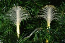 Set Of 20 Decorative Warm White LED Fibre Optic Flower Lights