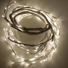1.8m 144 Warm White LED Branch Garland On White Cable