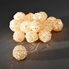Konstsmide 3m Length Of 16 Indoor Static LED Low Voltage Natural Braided Ball Fairy Lights.Clear Cable