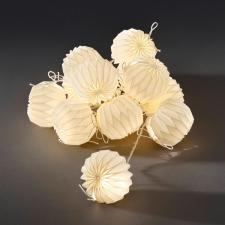 Konstsmide 2m Length Of 12 Indoor Static Warm White LED Paper Lantern Shade Fairy Lights Transparent Cable