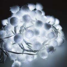 Mains Operated White LED Fairy Light Snowball Garland On White Cable - 2m