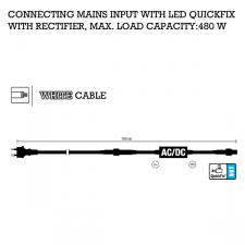 MK 1.5m White Mains Rubber Lead with Rectifier