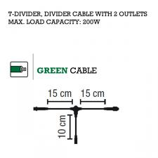 MK System 80 2 way dividing QUICK FIX Low Voltage Indoor And Outdoor Green Cable