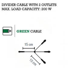 MK System 80 3 way dividing QUICK FIX Low Voltage Indoor And Outdoor Green Cable