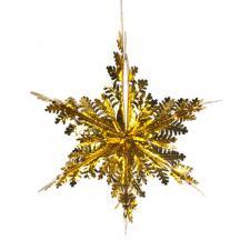 Gold Foil Snowflake Star - 15