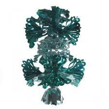 2 Tier Rosette Pendant in Turquoise Laser/Ice Blue/Silver