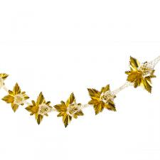 Gold/Cream Rosette Garland - 2.7m x 20cm
