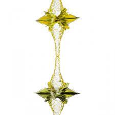 Gold Rosette Garland - 2.7m x 20cm