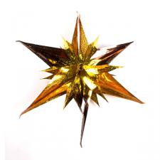 Coffee/Copper Laser/Gold Star Burst Foil Decoration - 40cm