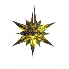 Gold Star Burst Foil Decoration - 40cm