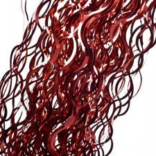 Curly Red Lametta - 50cm