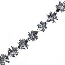 Foil 270cm Flower Burst Garland - Silver