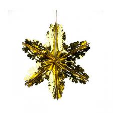 Foil 40cm Starflake - Gold