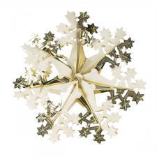 Gold & Cream Foil Snowflake Decoration - 40cm