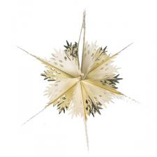 Gold & Cream Foil Snowstar Decoration - 40cm