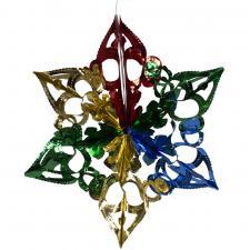 Multi Coloured Foil Snowburst Decoration - 40cm