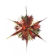 Red & Gold Foil Snowburst Decoration - 40cm