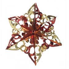Red & Gold Foil Snowstar Decoration - 40cm