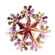 Rose Gold & Pink Foil Snowflake Decoration - 40cm
