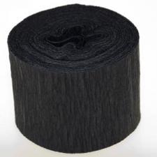 Black Crepe Paper Streamer - 10m