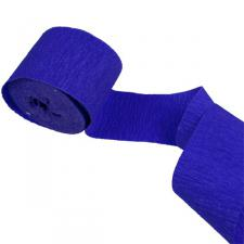 Dark Blue Crepe Paper Streamer - 10m