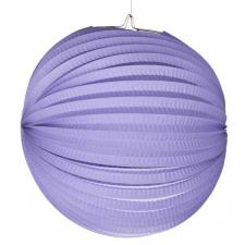 Lilac Flame Resistant Round Paper Lantern - 31cm