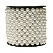 Winter White Bead Chain Garland - 8mm x 10m