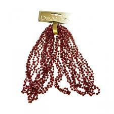 Dark Red Diamond Bead Garland - 2.7m