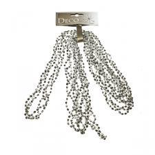 Silver Diamond Bead Garland - 2.7m