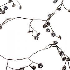 Silver Metal Garland With Flower Detail - 106cm