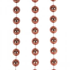 Burnt Orange Bead Chain Garland - 2.7m