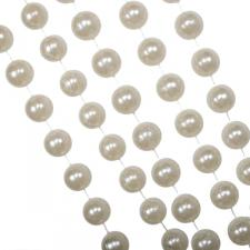 Cream Bead Chain Garland - 2.7m