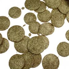 Gold Glitter Disc Garland - 180cm