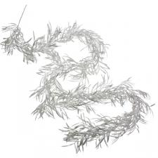 Glittered Silver Pacific Yew Garland - 1.9m
