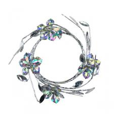 Iridescent Flower Candle Ring - 8cm